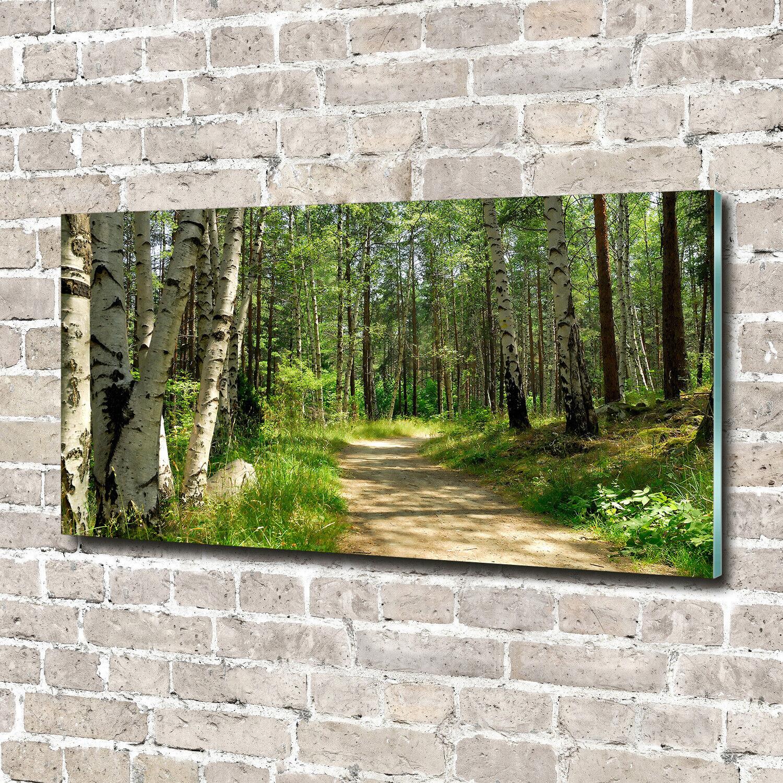 Acrylglas-Bild Wandbilder Druck 140x70 Deko Landschaften Pfad im Wald