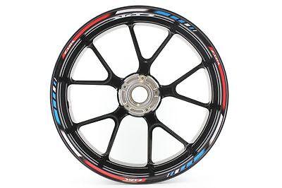 Liserets de Jantes SpecialGP Moto Honda CBR 125R HRC Bleu Autocollants