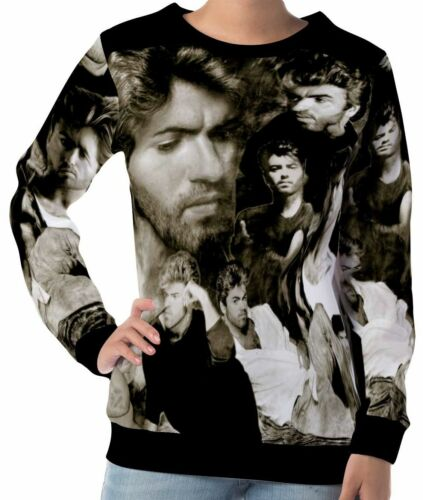 George Michael Women/'s Long Sleeve Sweatshirts