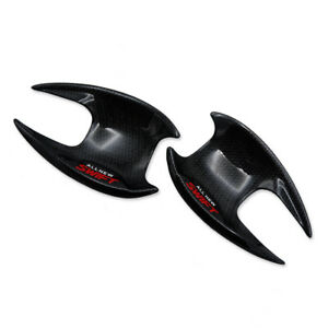 For-Suzuki-Swift-Hatchback-2018-19-20-Front-Door-Handle-Bowl-Cover-Black-Carbon