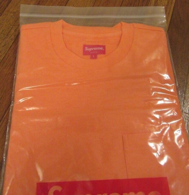 62ea8d6b1870 Supreme S/S Pocket Tee T-Shirt Size Large Coral FW18KN49 FW18 2018 Brand