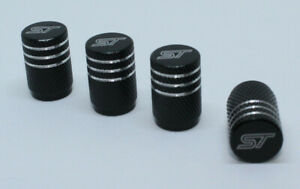 4x Valve Cap for FORD Aluminium Dust Caps for FORD ST Brand New Black Check