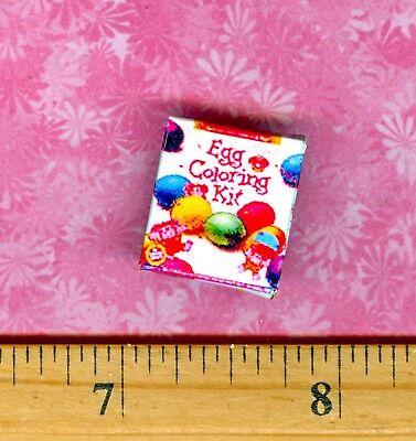Dollhouse Miniature size  Easter Egg Dye Box