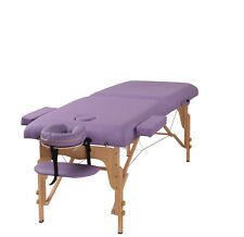 "Heaven Massage Purple 3"" Portable Massage Table w/Free Carry Case & Accessories"