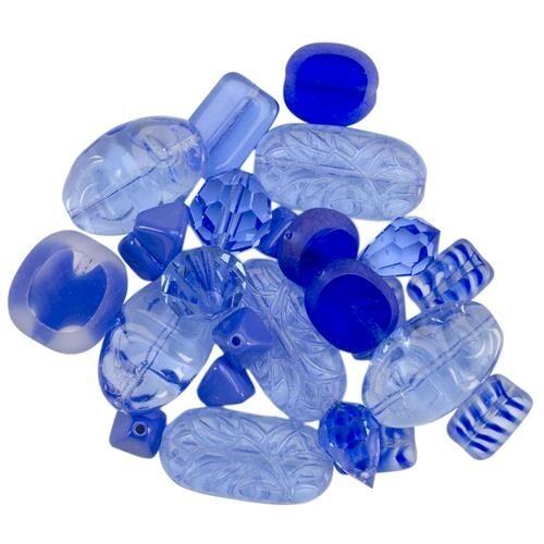 Mode International Square Tube Glass Bead Mix 2oz Per Pack - 174825