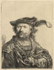 Rembrandt Etching Reproductions: 2 Self Portraits: 2 Fine Art Prints