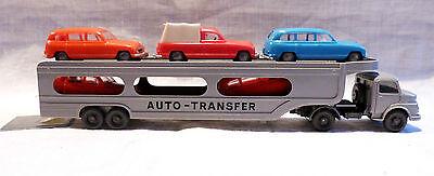 "WIKING H0 MERCEDES AUTO-TRANSFER MIT IGRA AUTO´S ""BS412"""