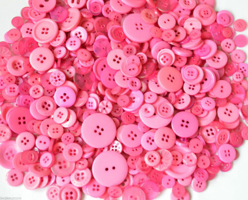 50g Packs MIXED BUTTONS Mostly Small Buttons Plastic Assorted Buttons