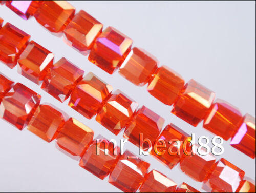 Wholesale Charms en Verre Crystal à Facettes Cube Spacer Bead 6mm//8mm//10mm Findings