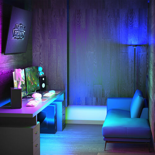 LED Stehleuchte Smart Dimmbar Stehlampe 25W mit RGB Touch Leselampe Deckenfluter