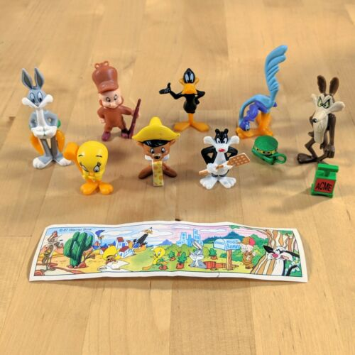 Kinder Egg Surprise Complete Set Looney Tunes and Co with Paper 1997 K98 Ferrero