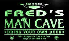 ADV PRO pb070-g Fred's Man Cave Cowboys Bar Neon Light Sign