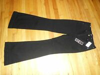 Women's Nine West Chatham Sq High Rise Flare Black Pants Size 6 $69.50