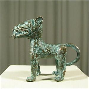 59544-Afrikanische-Bronze-Leoparden-Figur-Kamerun-Afrika-KUNST