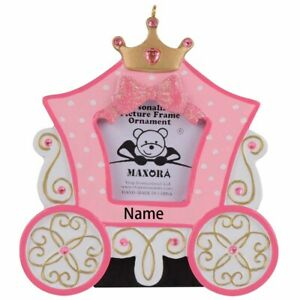 Personalized-Princess-Carriage-Photo-Frame-Christmas-Ornament-Birthday-Gift