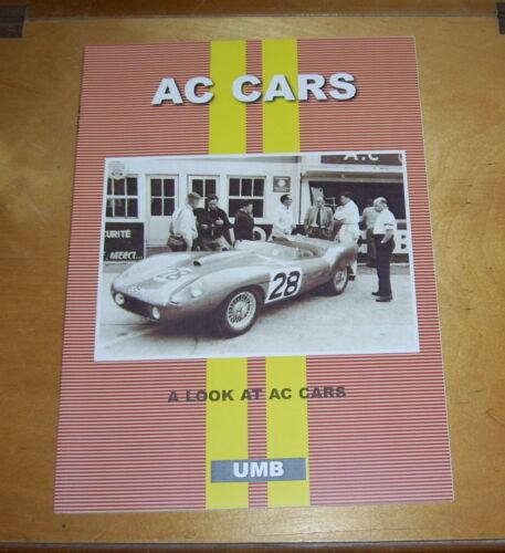 SERVICING 16//60 16//70 16//80 1935-38 UMB AC CARS ROAD TEST REPRINT BOOK 1924//73