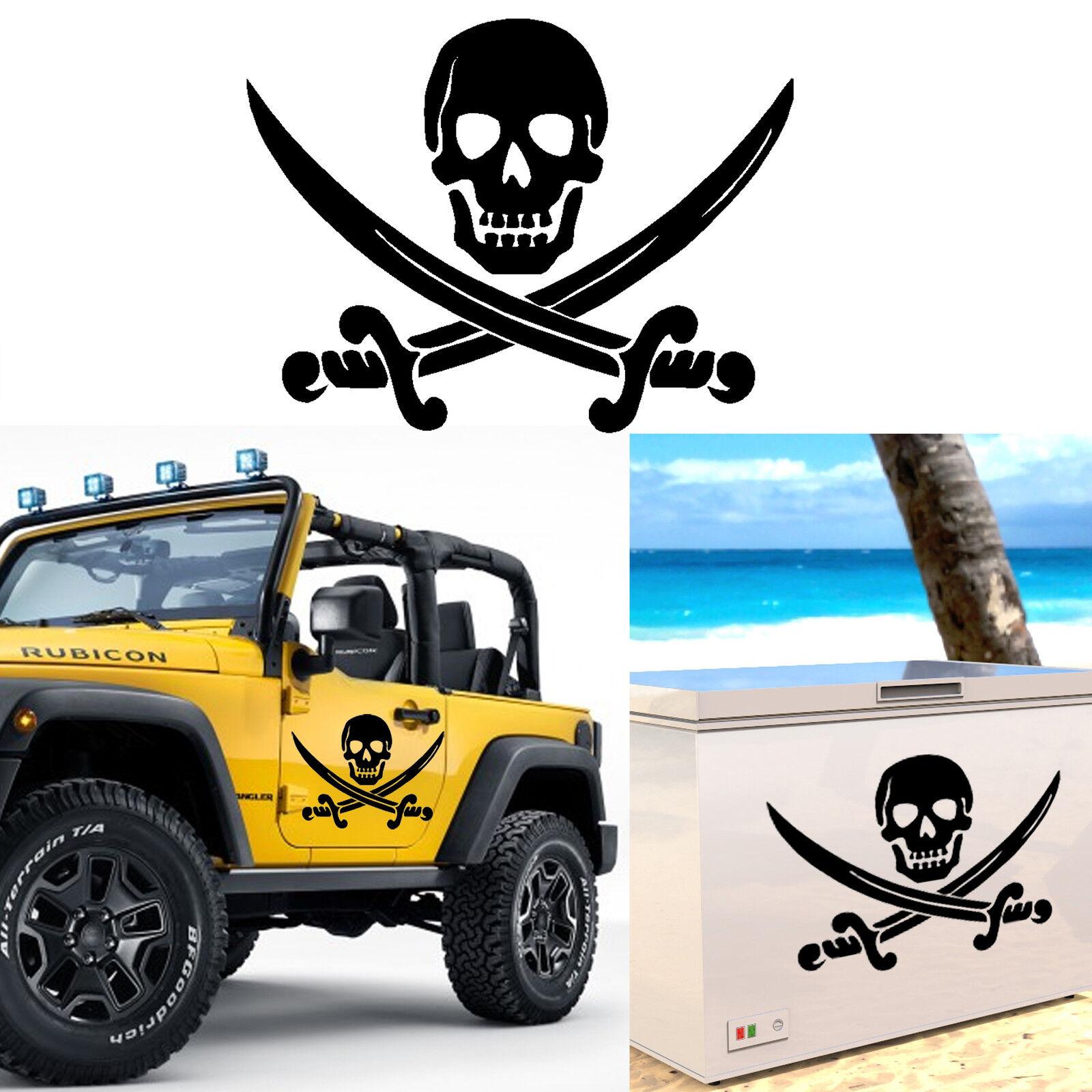 Immagini Di Teschio Pirati dettagli su adesivo vinile taglio teschio pirata. per esterno o interior.  pirate skull