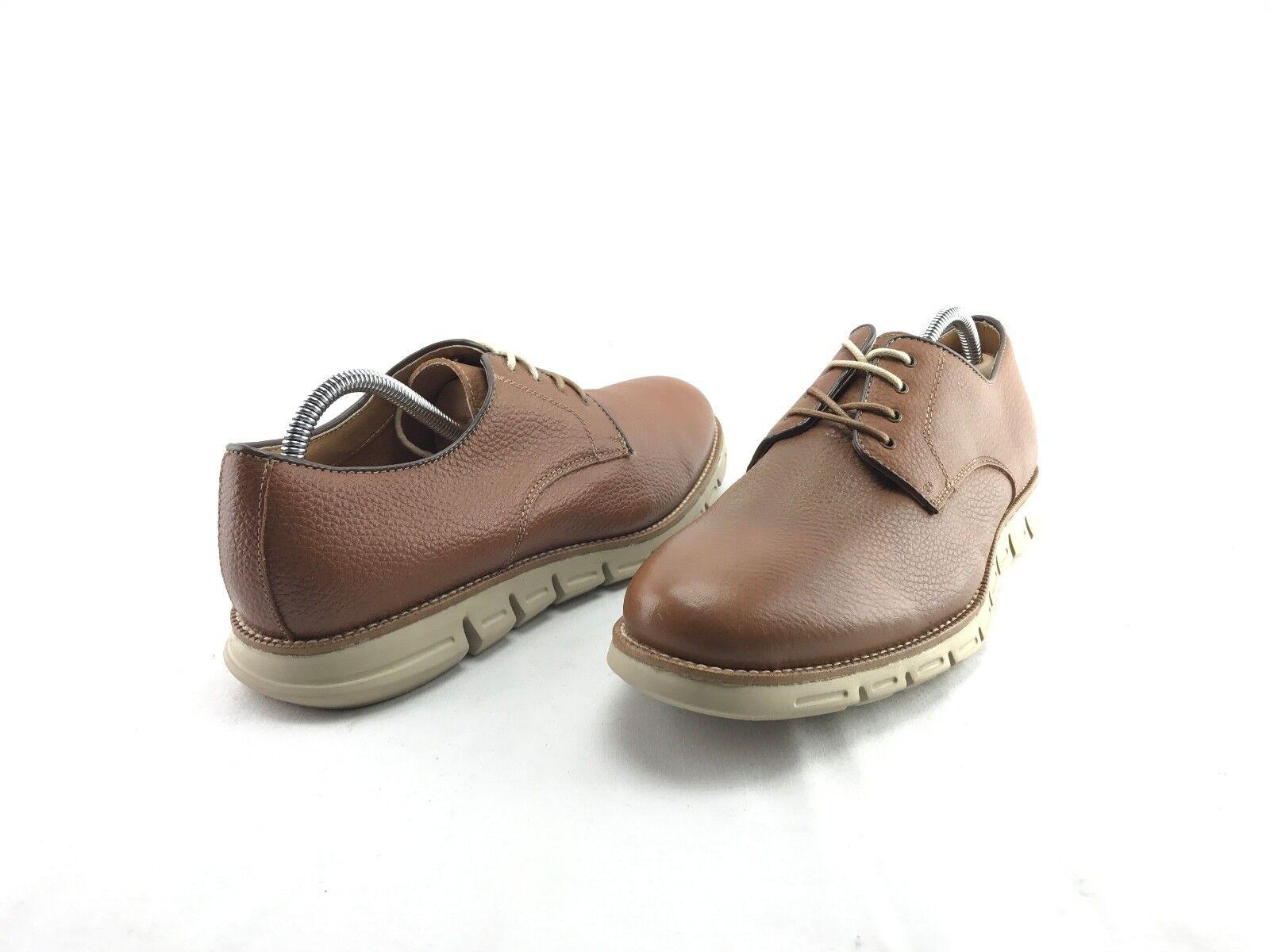 NEW GBX Hart Men's Lace Up Fashion Cognac Leather Oxford US Size 9 M shoes