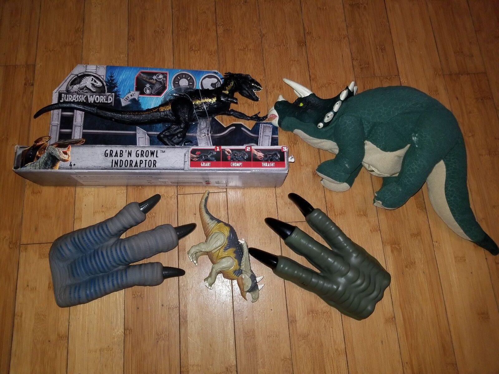 Jurassique Word Jurassic Park Lot-voir description-Triceratops marionnette 1Q