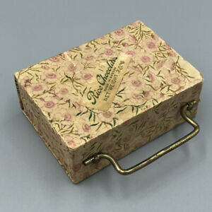 Antique RICE CHOCOLATES Candy Container LUGGAGE BOX Boston Suitcase
