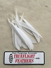 Trueflight 5 inch Feathers Left Wing Parabolic Dozen pack Orange Barred