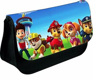 PERSONALISED-PAW-PATROL-DESIGN-2-ZIPPED-PENCIL-MAKEUP-CASE-SCHOOL-DS-BAG