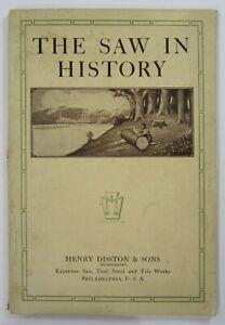 Antique-Tool-Catalog-Disston-Saw-History-Original-Diamond-Jubilee-1st-Ed-1915