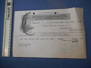 Alligator-Oil-Co-Vintage-Clothing-Letterhead-Invoice-Order-1920-St-Louis-MO