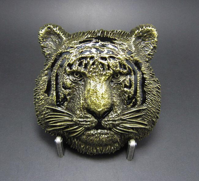 * Tiger Antique Brass Gürtelschnalle Wildlife Buckle Gürtel *533