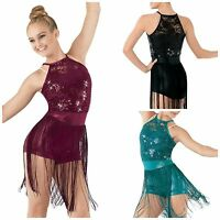 'light' Dance Jazz Tap Baton Sequin Fringe Competition Costume Child & Adult