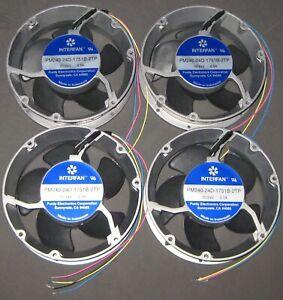 4 X Industrial Cooling DC Fan - 172 mm Round - 24V - High Flow / Speed - 250 CFM