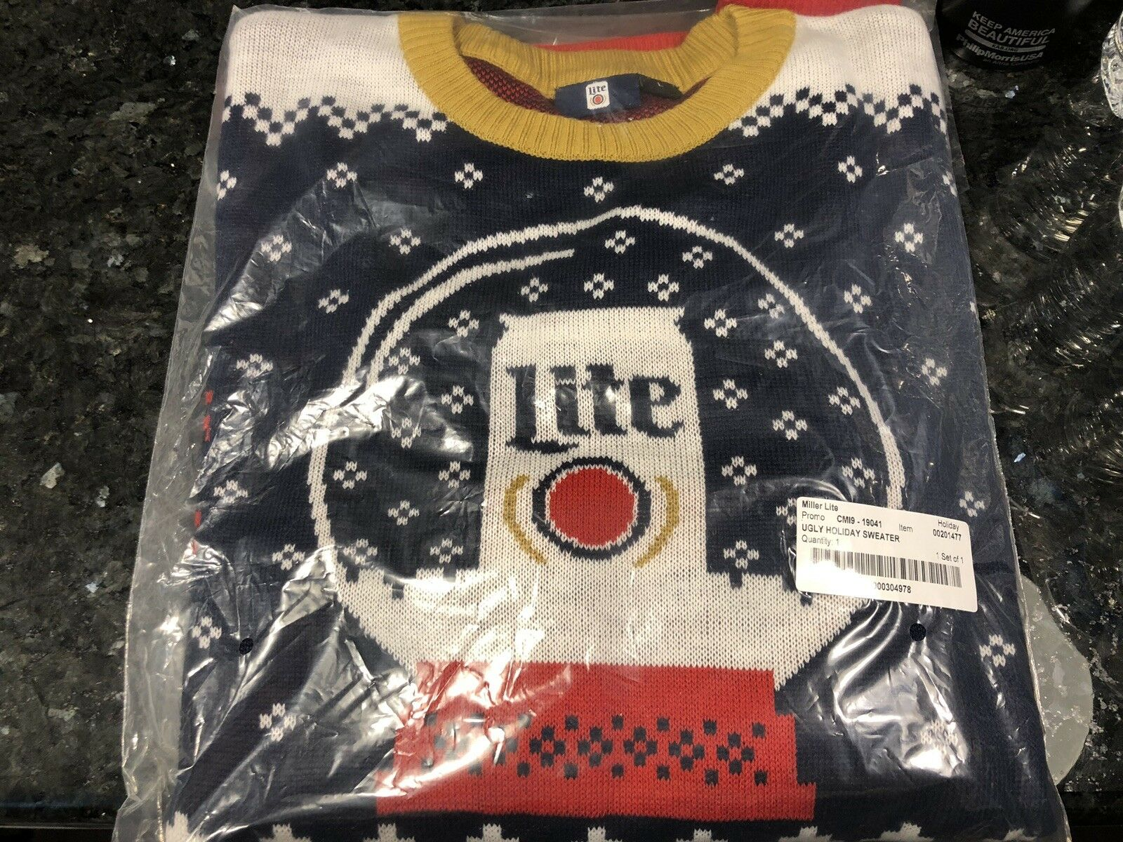 2018 Miller Lite Ugly Christmas Sweater