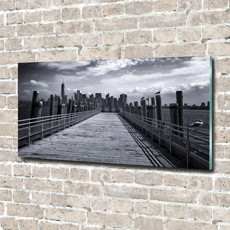 Wandbild aus Plexiglas® Druck auf Acryl 140x70 New York Panorama