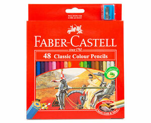 Faber Castell Artists 48 Classic Colour Pencils With Sharpener