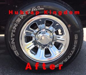 2000-2011-Ford-RANGER-15-034-7-spoke-Steel-Wheel-CHROME-Skins-Hubcaps-Covers-SET