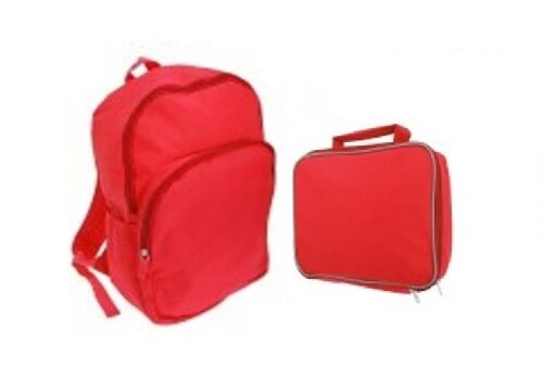 Childrens Plain Lunch Bags And Backpacks Perfect For School Choose Your Design
