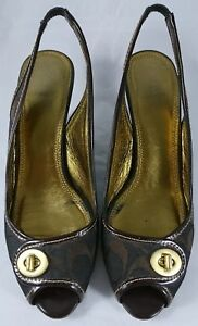 Coach-Monogram-Ladies-Size-10B-High-Heels