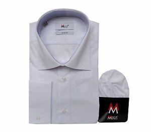 Slim-fit-Herrenhemd-mit-Einstecktuch-Gr-5XL-Weiss