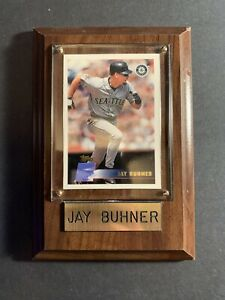 2000-Topps-Seattle-Mariners-Baseball-Card-6-Jay-Buhner-Wood-Plaque