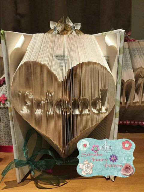 Mum in Heart Folded Book Art Folding PATTERN ONLY #063 Mam or Mom available
