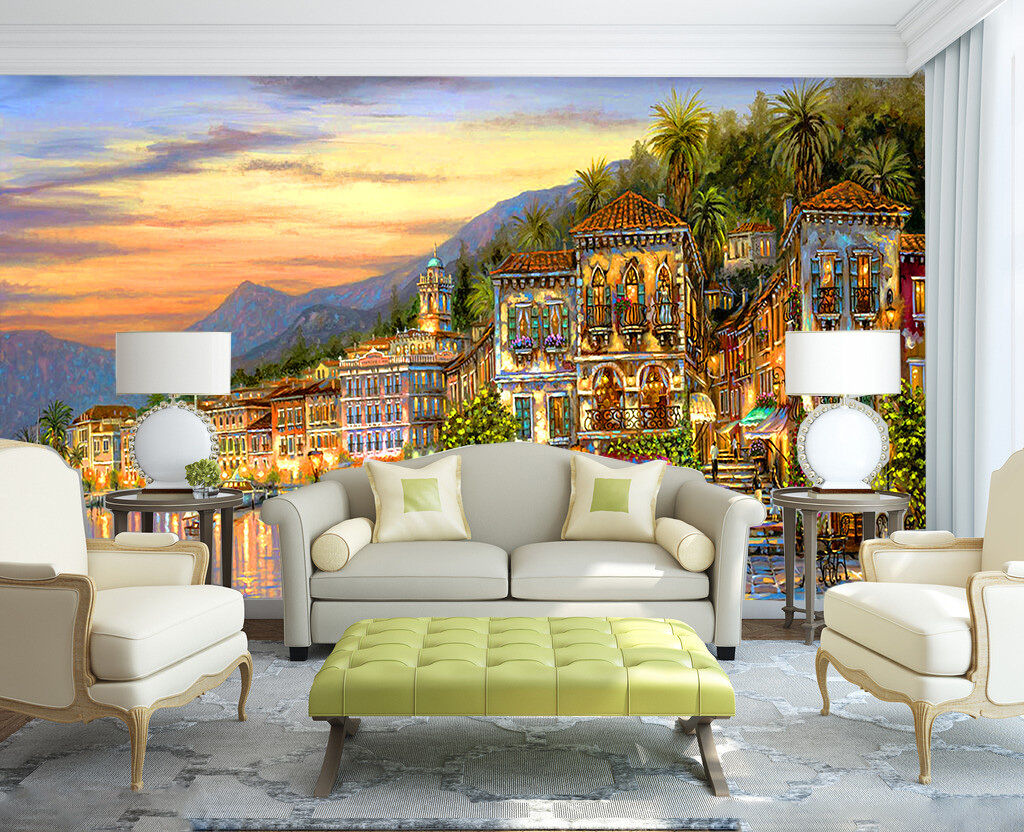 3D Sea Bright City 48 Wall Paper Wall Print Decal Wall Deco Indoor AJ Wall Paper