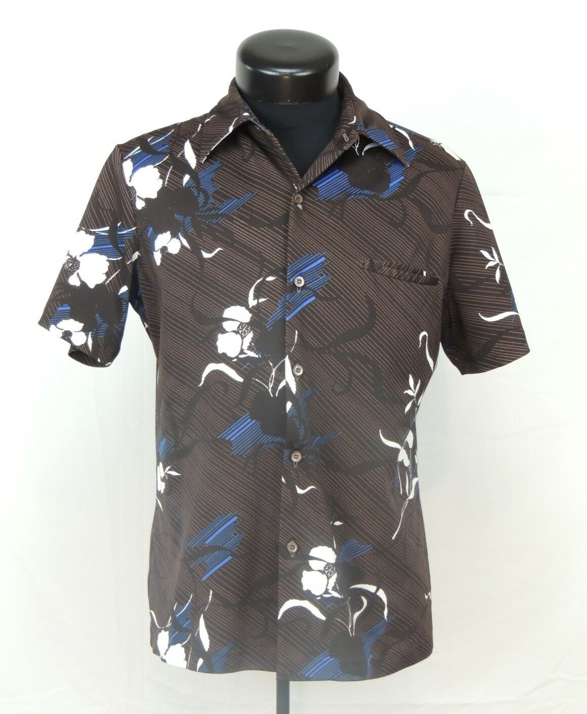 VTG Made Hawaii Hawaiian Shirt Aloha Tori Richard Tiki Luau Floral Tropical Hula