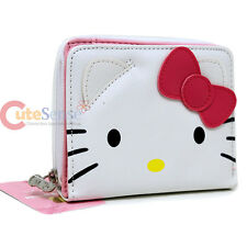 Sanrio Hello Kitty Wallet  Hello Kitty Face Pink Bow Coin Bill Lady's Purse