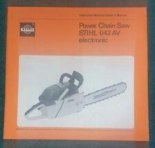 Stihl 042 AV Chainsaw Manual / Owner's Guide