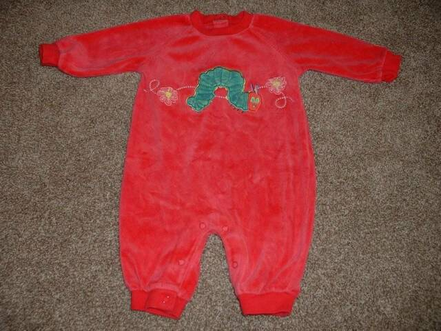Carter's Baby Girls Eric Carle Hungry Caterpillar Velour Outfit Size 3-6 months