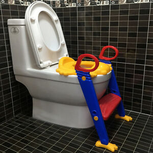 Kids Potty Training Seat With Step Stool Ladder For