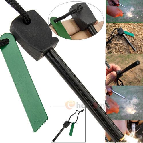 Emergency Magnesium Flint Fire Starter Ferro Rod Lighter Camping Survival Gear #