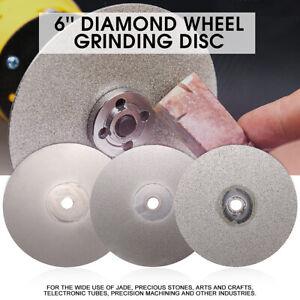 6-039-039-Diamond-Coated-Flat-Lap-Wheel-Lapidary-Grinding-Polishing-120-400-1200-Grit