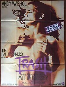 Affiche-TRASH-Paul-Morrissey-ANDY-WARHOL-Joe-Dallessandro-120x160cm