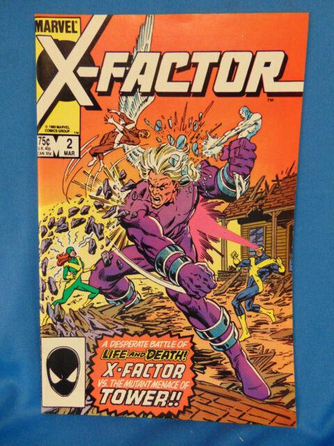 Vintage X-factor #2 comic book marvel 1986 1st appearance Tower superhero art